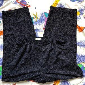 80s High Waisted Pleated Polka Dot Trousers